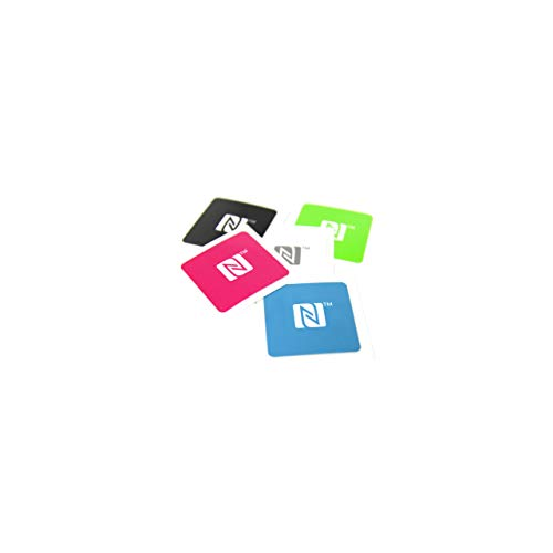 5 NFC Sticker, 25x25mm, NTAG 213, 180 Byte, NFC Logo