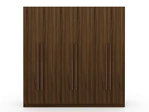 Manhattan Comfort Gramercy Contemporary Modern Freestanding Wardrobe Armoire Closet, 82.48', Brown
