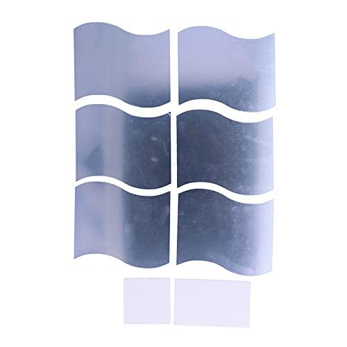 Adhesivo de Pared con Espejo Tridimensional, Espejo Decorativo de Pared con Ondas, Adhesivo de PVC, Adhesivos de Pared para sofá, Fondo, Pared, Dormitorio, Sala de Estar, baño