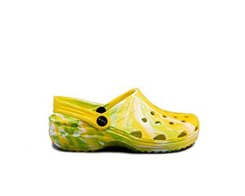 TMA 207B Clogs Sandaletten gelb/grün EUR 39