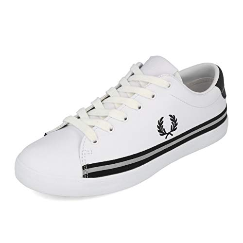 Fred Perry Lottie Leather White Black 40