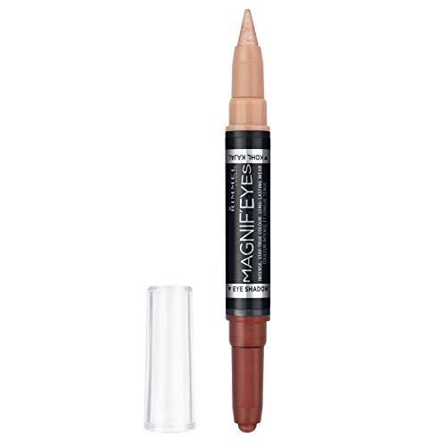 Rimmel London Ombretto e Kajal 2 in 1 MagnifEyes, Ombretto Stick Cremoso + Kohl Kajal a Lunga Durata, 003 Queens of The Bronzed Age, 1,6 g