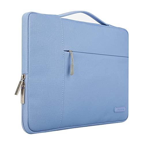 MOSISO Laptop Sleeve Borsa Compatibile con 13-13,3 Pollici MacBook Air, MacBook PRO, Notebook Computer, Poliestere Multifunzionale Manica, Blu serenità