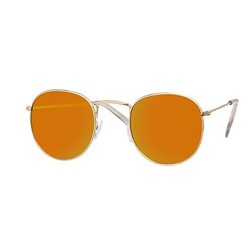MissLi Gafas De Sol De Diseñador De Marca para Mujer, Gafas De Lente Transparente Retro, Gafas De Sol Redondas para Mujer (Color : 6)