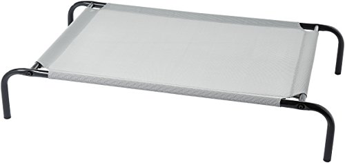 AmazonBasics Cooling Elevated Pet Bed, Medium (43 x 26 x 7.5 Inches), Grey