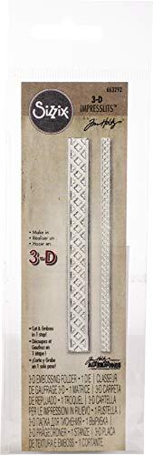 Sizzix Impresslits Cartella 3-D per le Impressioni in Rilievo, Reticolo