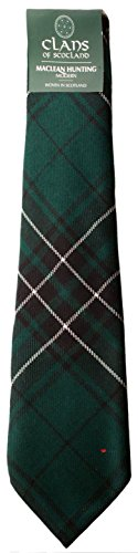 I Luv LTD MacLean Hunting Clan 100% Wool Scottish Tartan Tie