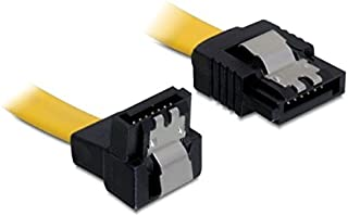 BIGtec 0,2m SATA Kabel S-ATA 3 Datenkabel Anschlusskabel HDD SSD 6GBit//s Stecker L-Type//L-Type 20cm vergoldet gerade//gerade Serial ATA Verriegelung Farbe schwarz