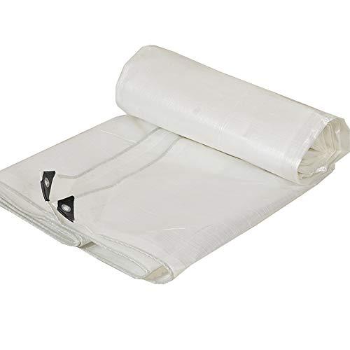 Trella - Cubierta Gruesa de Lona de Polietileno, Resistente a la Lluvia, Impermeable, para Carpa de Fiesta, cenador, Crema Solar, Lona, linóleo, paño de plástico