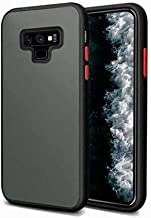 indiacase mobile smoke shockproof case for samsung galaxy note 9 dual layer protection smoke hard rubberized transparent bumper back cover case for samsung galaxy note 9 black - Black; Transparent