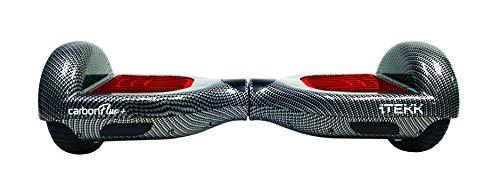 """Itekk iTEKK-CRB2-RED Hoverboard 6.6 Carbon Fluo, Assicurazione AXA """"Tutela Famiglia"""" Inclusa, Unisex, Rosso Fluo"""