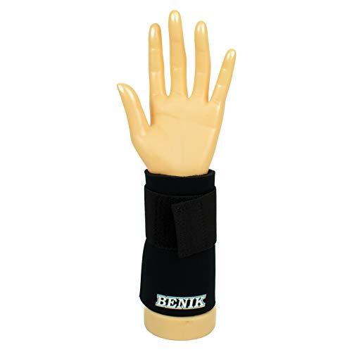 Benik Wrist Support Cuff with Straps, Black Left, Medium/Large