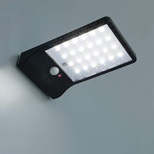 UNIVERSO Foco 48 LED 4 W exterior impermeable lámpara aplique pared CCT panel solar sensor...
