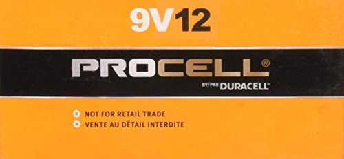 Duracell Procell 9 Volt Batteries, Pack of 12 (Packaging May Vary)