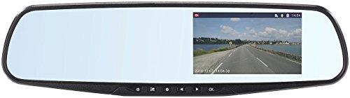 NavGear HD-Rückspiegel-Dashcam mit G-Sensor & 10,9-cm-Display...