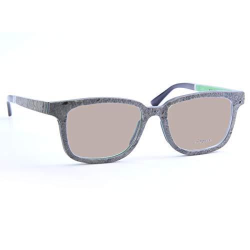 iSTONE Sonnenbrille aus Holz/Echtholzbrille/Holzbrille mit Steinauflage - Modell 04 brauner Granit in Emerald Grün - für Damen und Herren - UV400 = 100% UV-Schutz - Brillenmanufaktur aus Deutschland