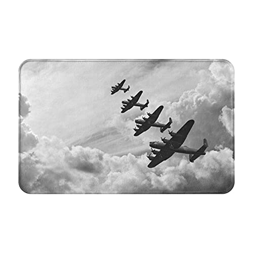 Nongmei Alfombras de baño,alfombras de baño,Avión Vintage Imagen Retro de Lancaster Bomber Jets Air,Alfombras Antideslizantes Alfombras de baño Extra Suaves