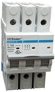 US Breaker 3P 20A UL489 DIN Rail Circuit Breaker 10KA @ 480/277V