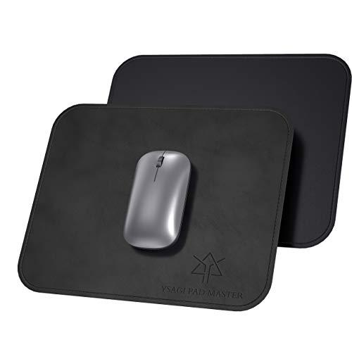 Mauspads 2er Pack, YSAGi Rutschfestes Office Mauspad Wasserdicht aus PU-Leder, 25*20cm Mauspads Dünn und Leicht mit Geschäftsstil für Büro/Laptop /PC Tisch