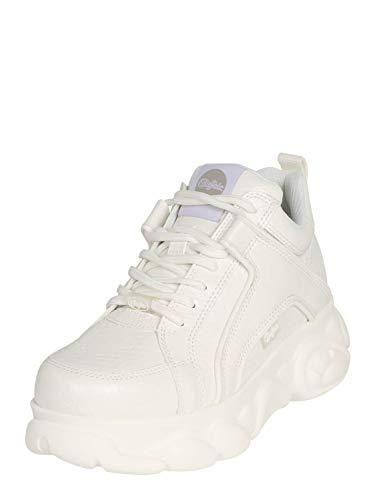 Buffalo Damen Sneaker CLD Corin, Frauen Low Top Sneaker, Woman Freizeit Halbschuh schnürschuh strassenschuh Sneaker,Weiß(Snake White),40 EU / 6.5 UK