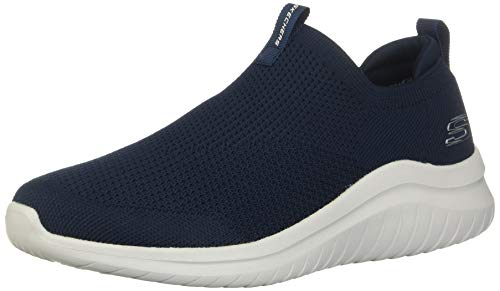 Skechers Herren Ultra Flex 2.0 Slip On Sneaker, Blau (Navy Knit/Trim NVY), 42 EU
