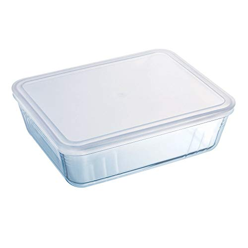 Pyrex Dish with Plastic Lid - Rectangular 1.5L - 242P000/6146