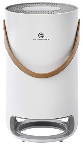 SilverOnyx Air Purifier for Home, True HEPA Filter, 3-Speed Portable, Air Cleaner with UV Light, for Allergies and Pets, Dust, Quiet Odor Eliminator for Bedroom - Large Room 400 sq ft White