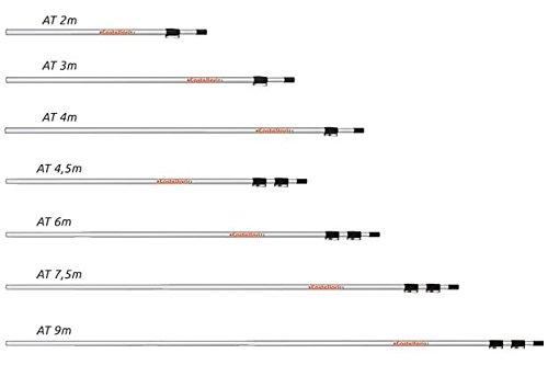 CASTELLARI ASTE TELESCOPICHE AT 2-3-4-4.5-6-7.5 MT - AT4,5 (150-300-450CM)