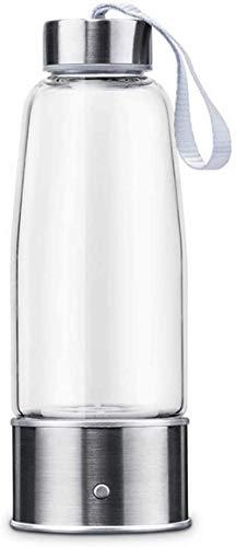 Botella de agua portátil con generador rico en hidrógeno Tecnología SPE Modo ionizador 3 minutos Función de autolimpieza Alta concentración - 300 ml, Plata