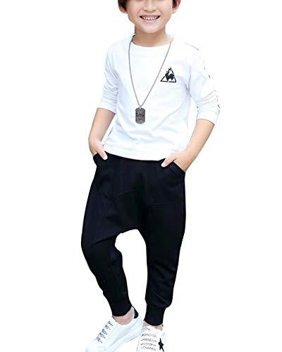 Yonglan Niños Pantalones Harem Casual Además De Terciopelo Largo Pantalones