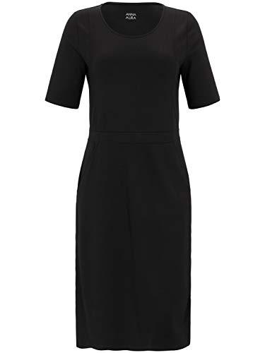 ANNA AURA Damen Jersey-Kleid mit Taschen und Teilungsnähten