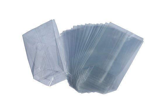 Beutel - Lote de 100 bolsas con base cuadrada (papel celofá