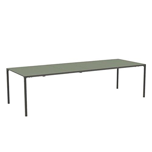 emu Terramare Gartentisch rechteckig ausziehbar, grau grün pulverbeschichtet LxBxH 181+50+50x103x74cm
