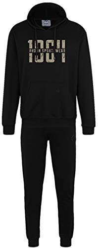 Ahorn Sportswear grote maten joggingpak 1964 Gravel Black