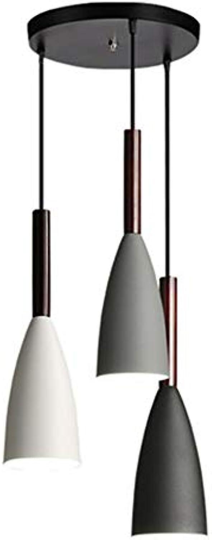 LL-Enjoyy Kreative Schmiedeeisen 3 Kronleuchter, 1 m lang, verstellbar, geeignet für Küche und Restaurant Bar,Disc
