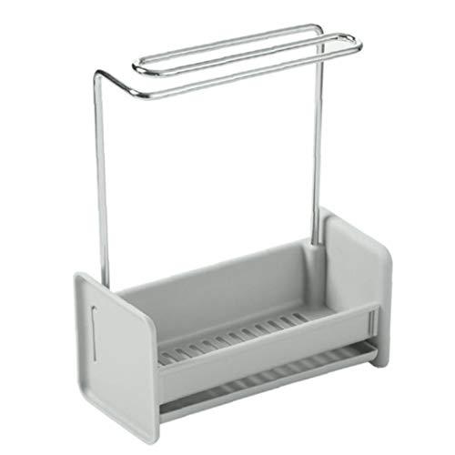 Sponge Cloth Organizer Rag Rack Drain Hanger Tableware Holder Sink Shelf Kitchen Plastic
