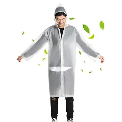 Cotify Sports Raincoat Hiking Protective Raincoat impermeabile reversibile con cappuccio da uomo e da donna bianco M