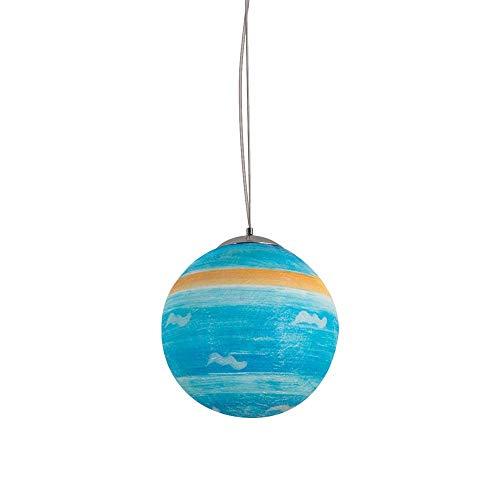Gpzj Runder planetarischer Kronleuchter Kreative Moderne E27 Pendelleuchten Pendelleuchten Uranus Nachtlicht für Zuhause, Wohnzimmer, Schlafzimmer, Korridor