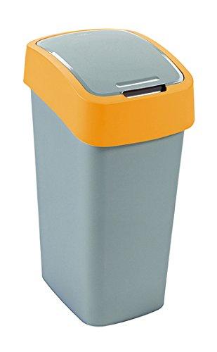 CURVER Flip Bin Schwingdeckeleimer 50 Liter Silber/orange