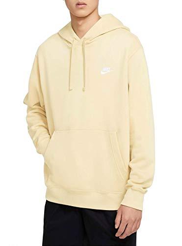 Nike Sudadera de forro polar con capucha para hombre, color amarillo, talla M