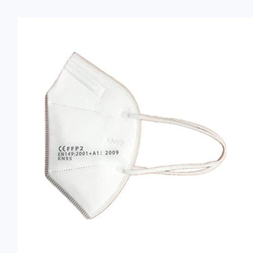 20PCS   50PCS   100PCS Maschere monouso con occhielli bianchi blu, 3 strati di maschera antipolvere, abbastanza scorte