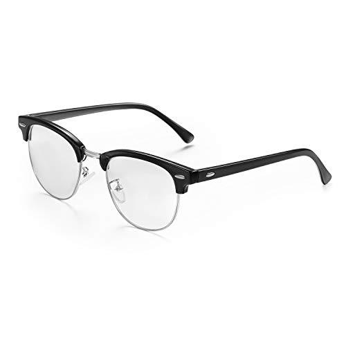 Aroncent Lesebrillen Sehhilfe Augenoptik Halbrand Halbrandbrille Unisex (Damen Herren) Retro Brille Reading Glasses 4 Fraben