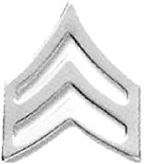 - 1 PAIR FTO Collar Insignia Silver//Nickel Field Training Officers No Shine