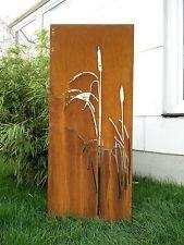 Zen Man Edelrost Garteninspiration Sichtschutzwand Sichtschutz aus Metall Rost