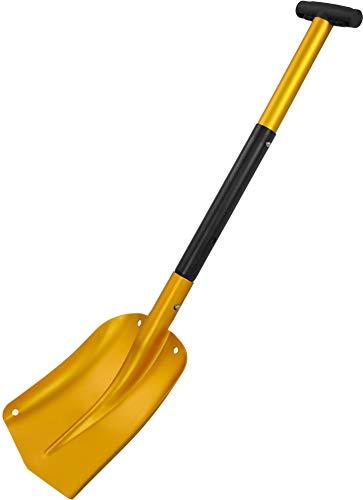 normani Schneeschaufel, Lawinenschaufel, 3-teilig zerlegbar mit Tragetasche Farbe Gelb