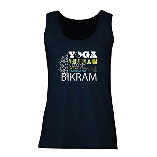 lepni.me Camisetas sin Mangas para Mujer Yoga Meditation Om Good Vibes Lotus Savasana...