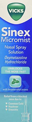 Vicks Sinex Micromist Aqueous Nasal Spray, 15 ml, Pack of 8