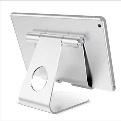 Soporte para Tableta, Soporte Ajustable para Tableta - Base de Soporte de Escritorio Compatible con el Nuevo iPad 2020 Pro 9.7, 10.5, 12.9, Air Mini 2 3 4, Switch, Samsung Tab, Otras tabletas - Plata