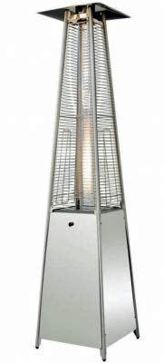 Outdoor Pyramid Patio Heater, Patio Gas Flame Heater, 13KW, Water Proof Cover Included, By Lazy Style (Grey)