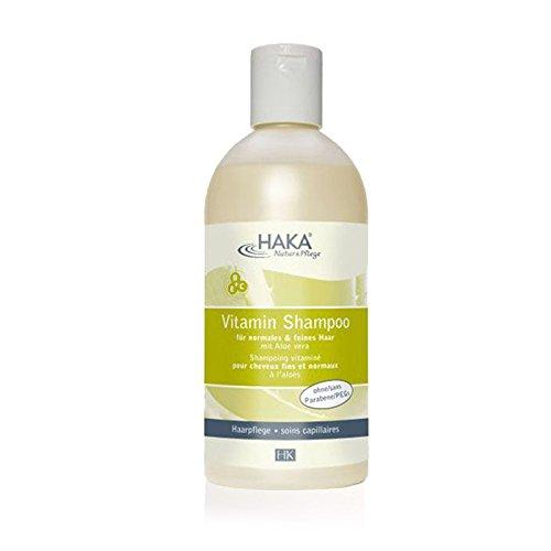 HAKA Aloe Vera Shampoo I Haarpflege für normales und feines Haar I Gepflegtes Haar Vitamin B, C, E I Vitaminshampoo für gepflegtes und kräftiges Haar